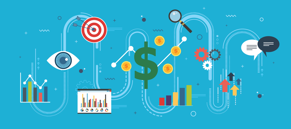 Startup success concept Illustration