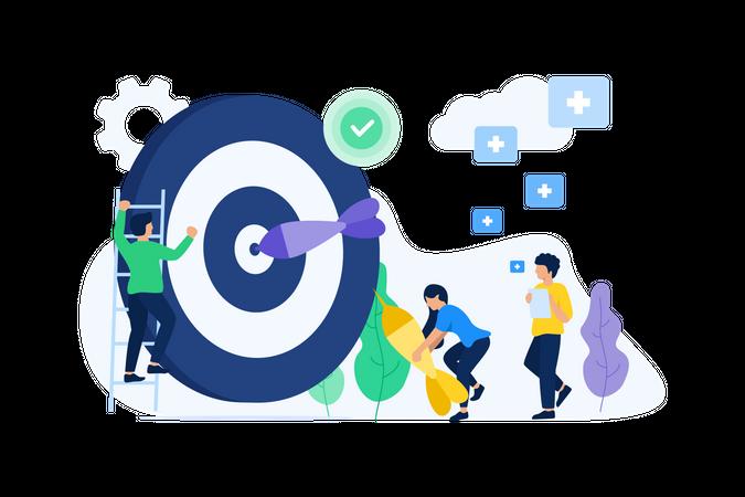 Startup target Illustration