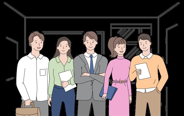 Startup team Illustration