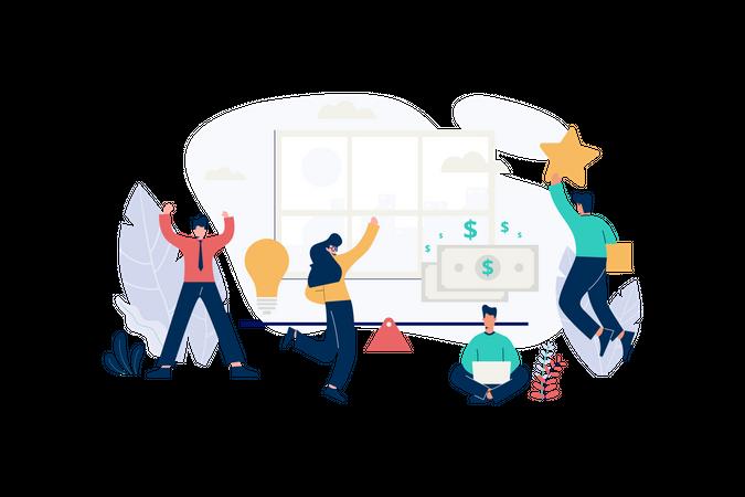 Startup valuation Illustration