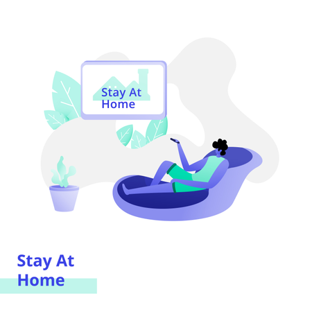 Stay At Home Illustration