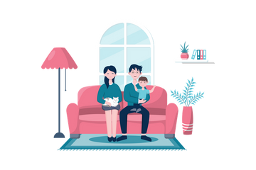 Stay At Home Illustration Pack