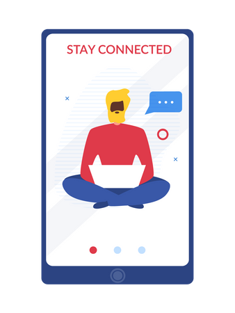 Stay connected Illustration