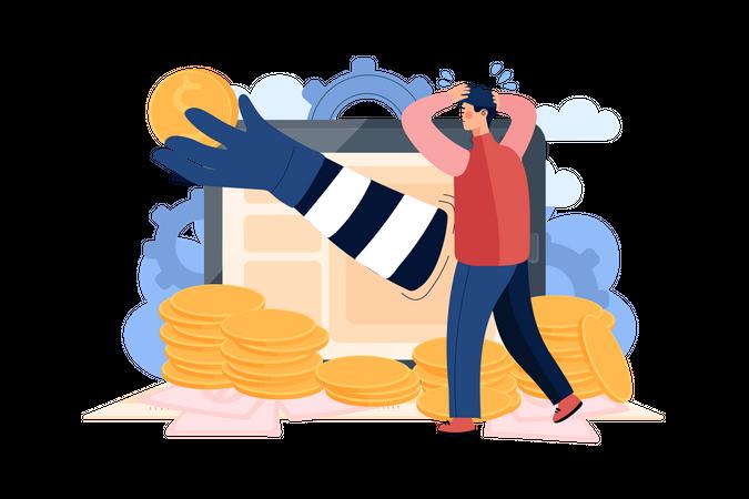 Stealing user money Illustration