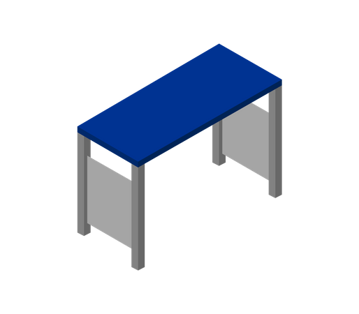Steel desk Illustration