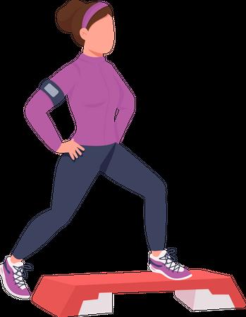 Stepup aerobics trainer Illustration