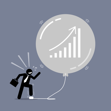 Stock Market Bubble Illustration