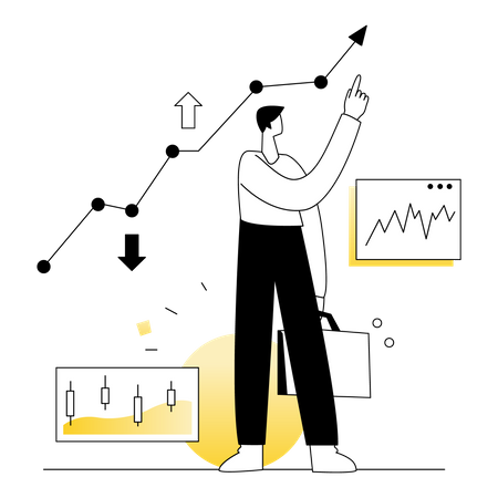 Stock market Trading Business Illustration