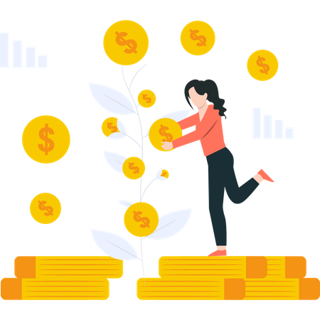 Stockholder getting investment return Illustration