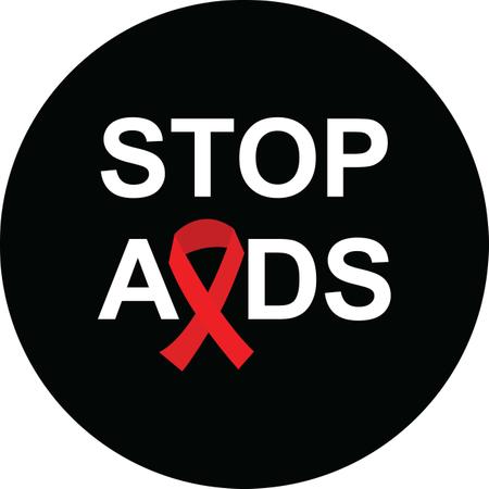 Stop Aids Awareness Ribbon In Black Background Red Ribbon Vector Illustration Illustration