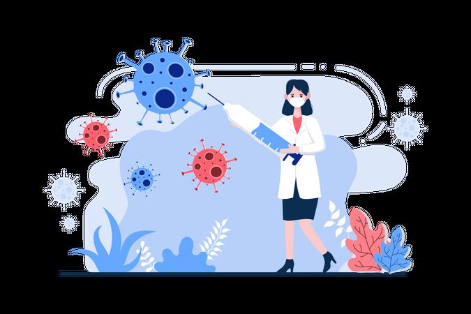 Stop Corona Virus Illustration