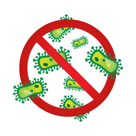 Stop corona virus outbreak warning sign Illustration