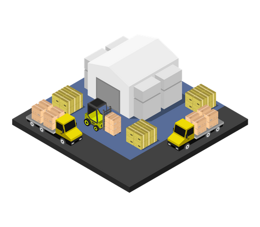 Storage building Illustration