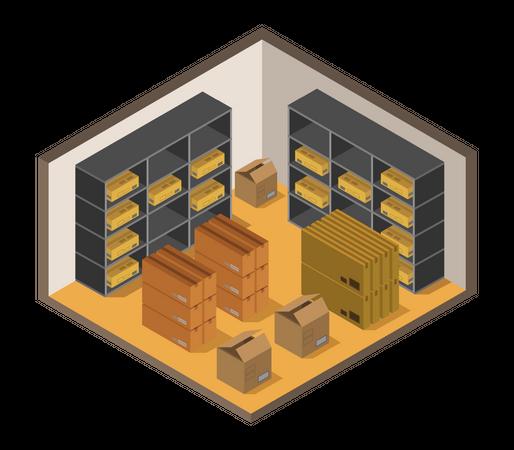 Storage facility Illustration
