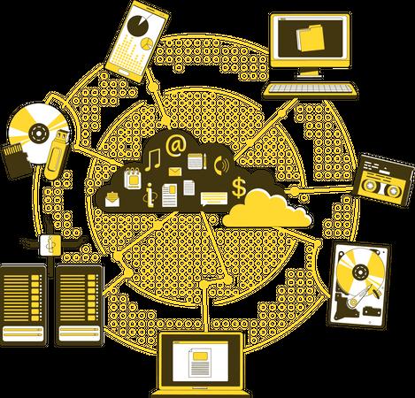 Storage media Illustration