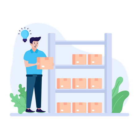 Storage Racks Illustration