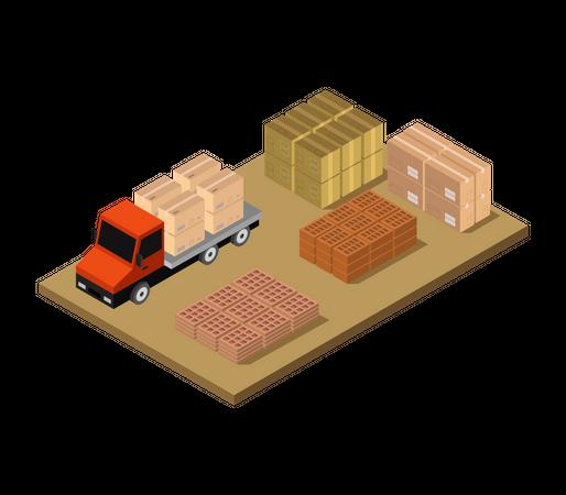 Storage truck Illustration