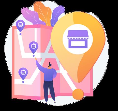 Store Location Illustration