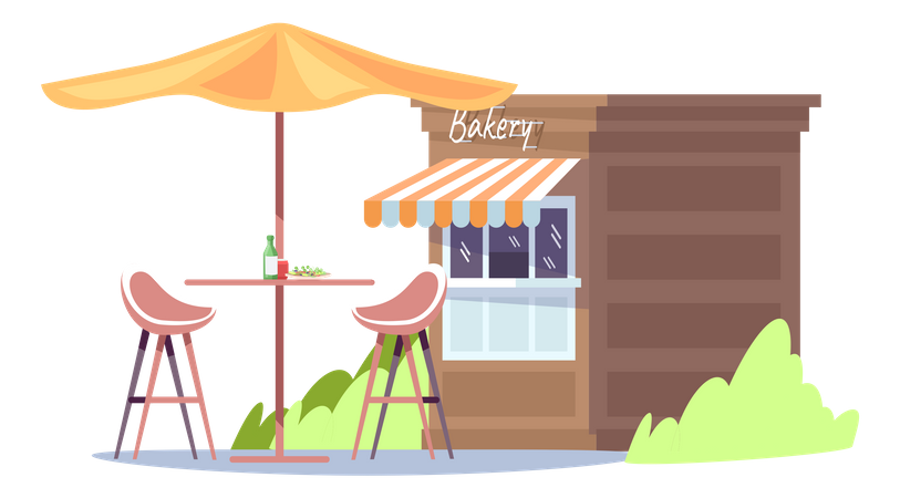 Store to sell baked goods Illustration