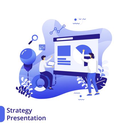 Strategy Presentation Flat Illustration Illustration