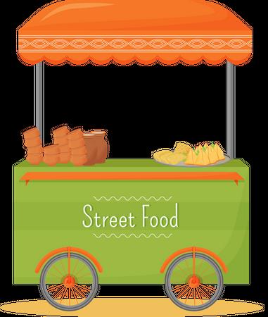 Street food stall Illustration