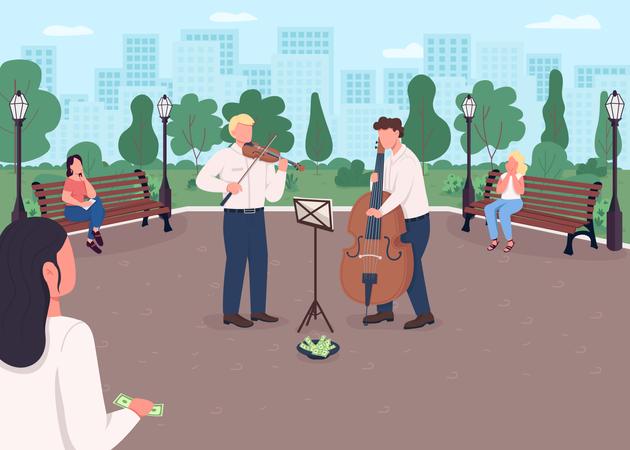 Street music band Illustration