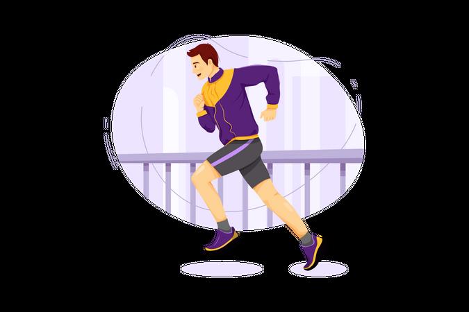 Street runner Illustration