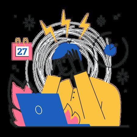 Stress or work load Illustration