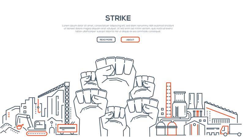 Strike - Modern Line Design Style Illustration Illustration