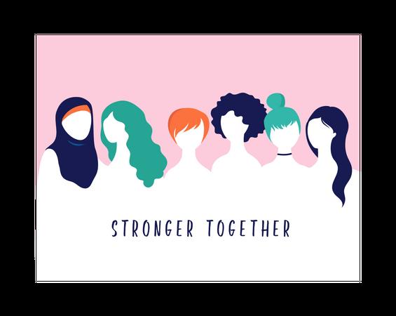 Stronger Together Illustration