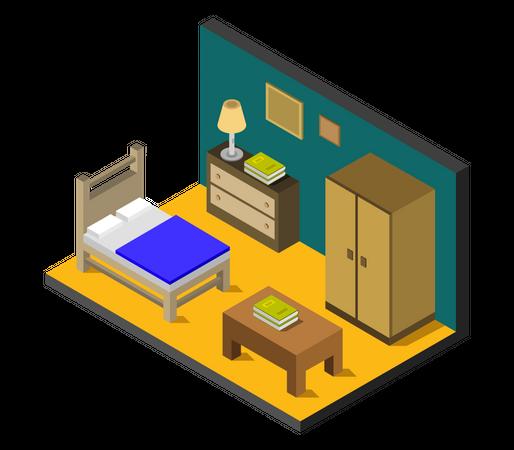 Student room Illustration