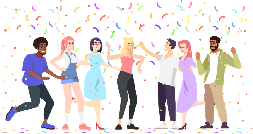 Students Party Illustration