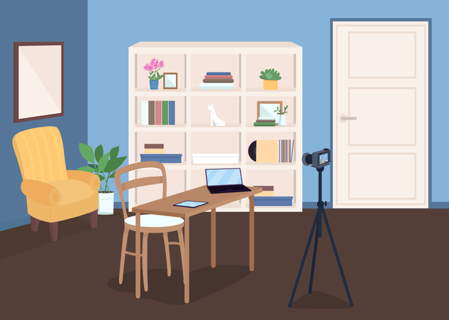 Studio for video recording Illustration