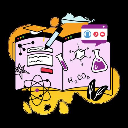 Study chemistry Illustration