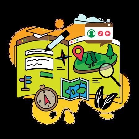 Study geography Illustration