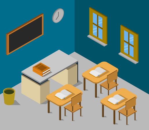 Study hall Illustration