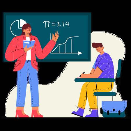 Study Maths with a Teacher Illustration