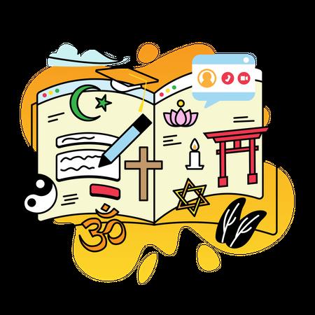 Study religion Illustration