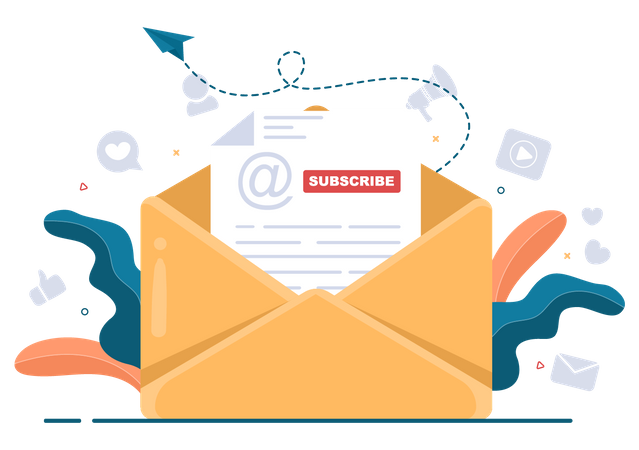 Subscribe Mail Illustration