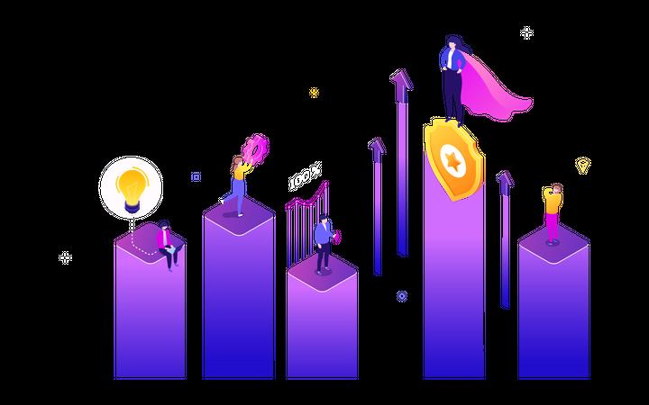 Success Business Illustration