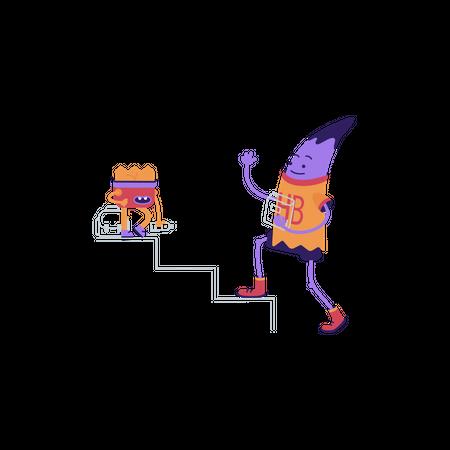 Success stairs Illustration