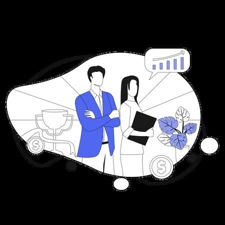 Successful Business Illustration