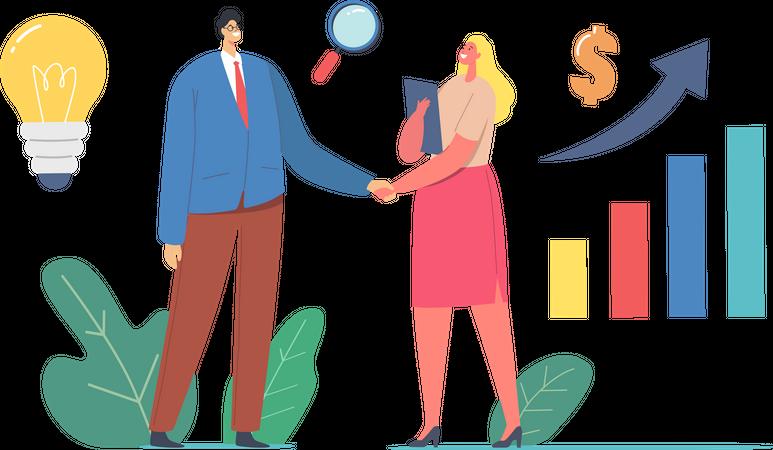 Successful Business Collaboration Illustration