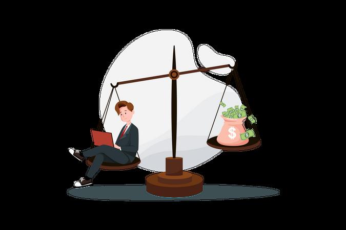 Successful business management Illustration