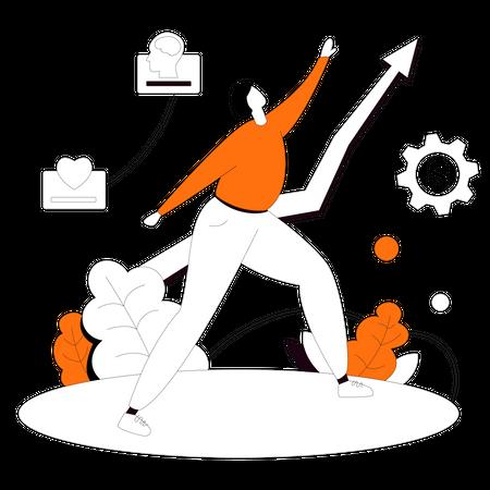 Successful business person Illustration