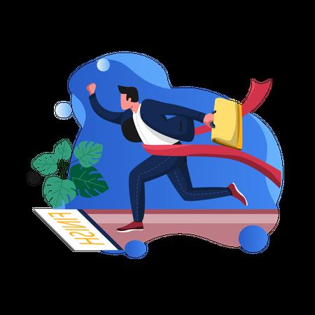 Successful businessman Illustration