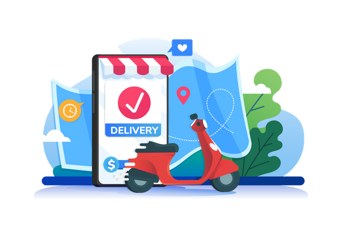 Successful Delivery Illustration