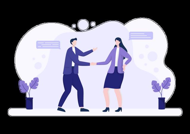 Successful Partners Illustration
