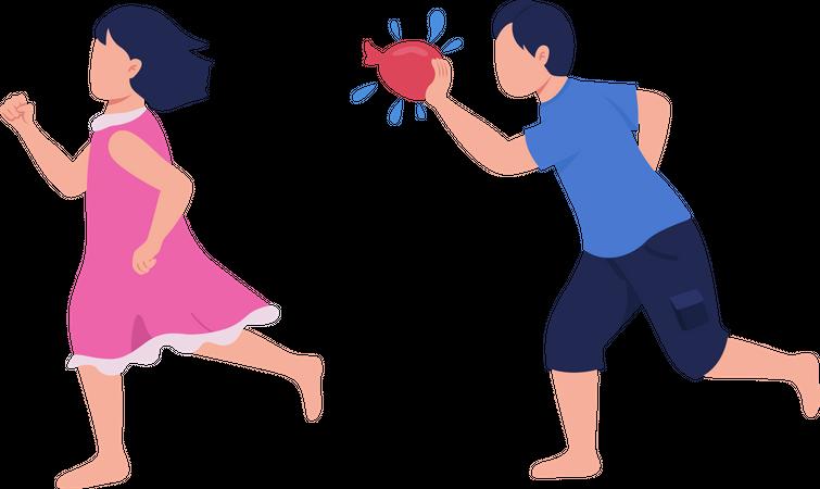 Summer activity for sibling bonding Illustration