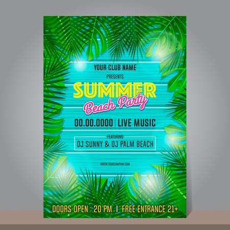 Summer beach party design template Illustration